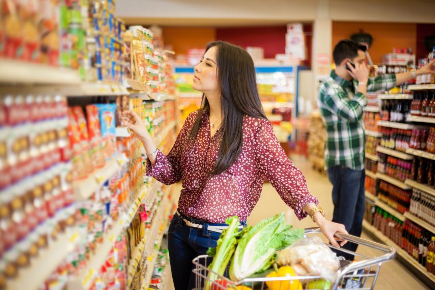 Utilisation du chèque repas au supermarché